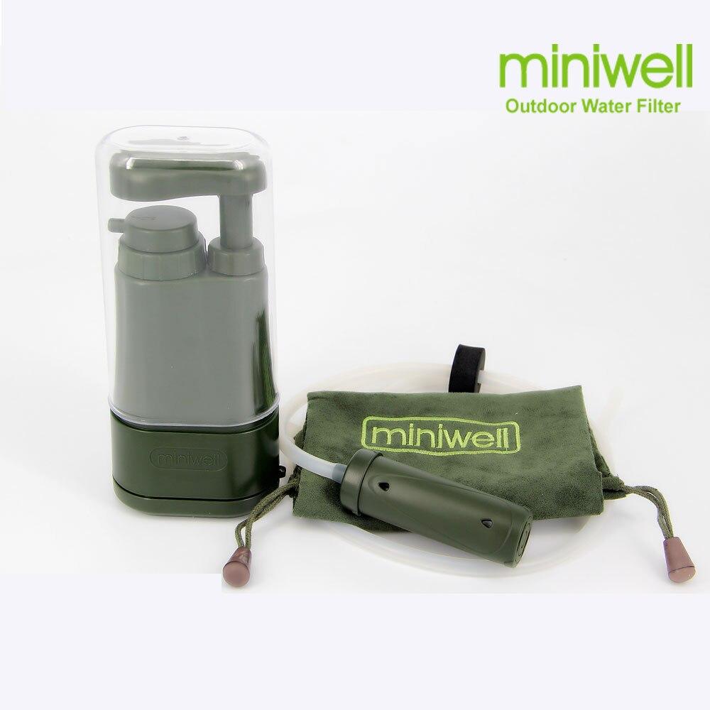 Kamp yürüyüş balıkçılık için taşınabilir su arıtma, acil/afet durum hazırlık, survival su filtre/filtrasyon sistemi