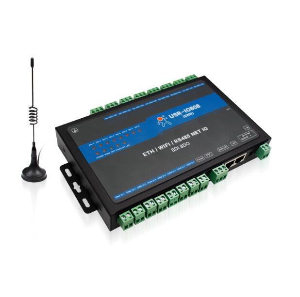 automation control 8 channels Network IO controller remote control switch RS485 to wifi ethernet support modbus