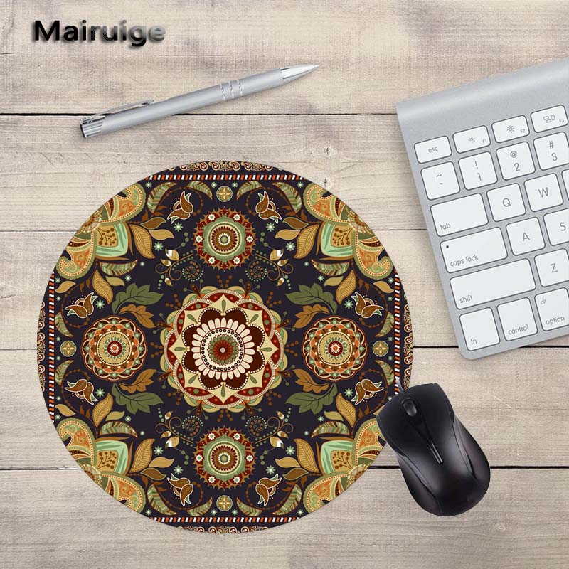 Mairuige High Quality Pattern Lifelike Round MousePad Laptop 200X200MM Size PC Game Home Diy Gift Gamer Speed Version Mats