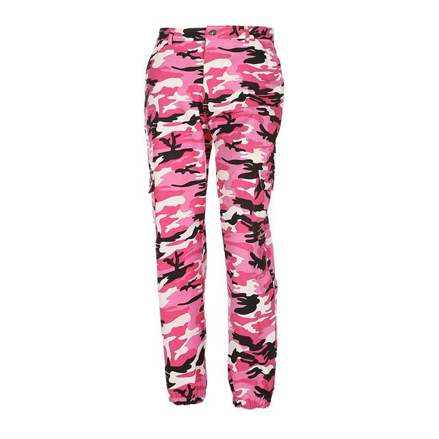 Weekeep Women 2017 High Waist Demin Camouflage Pants Fashion Jean Trousers Pantalon Mujer Pencil Military Camo Pencil Pants 5