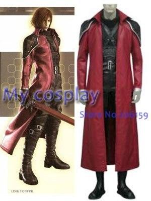 Anime Final Fantasy Cosplay clothing Final Fantasy VII Genesis Rhapsodos Cosplay Costume Freeshipping