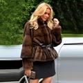 TOPFUR 2019 Winter Aangepaste Real Fur Coat Vrouwen Natural Mink Bontjas Met Riem Volledige Mouwen Standaard Regelmatige Jas Vrouwen korte