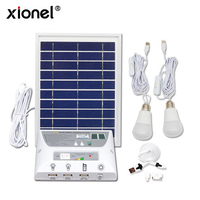 Xionel 4.5W Solar Emergency System LED lighting Home Power Solar System Portable Home Light Kit