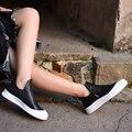 2016 Новый Ручной Женская Обувь Досуг Короткие Сапоги Кожаные Сапоги Черные и Белые Ботинки 7618