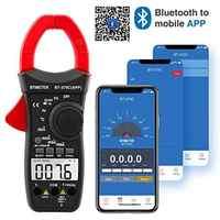 Digitale Clamp Multimeter Verbinden mit APP über Bluetooth,Amp Ohm Tester,4000 zählt für AC & DC Widerstand Temp Elektrische HVAC