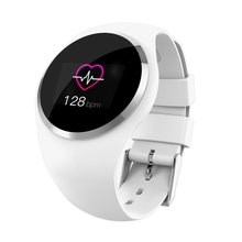 Пары Q1 Смарт часы браслет крови Давление монитор сердечного ритма 1,0 дюймов TFT Фитнес трекер ЖК-дисплей Экран Для женщин умный Браслет