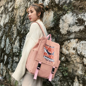 Image 2 - Street photo Japanese schoolbag female student Korean fashion couple shoulder bag male junior high school campus Backpack