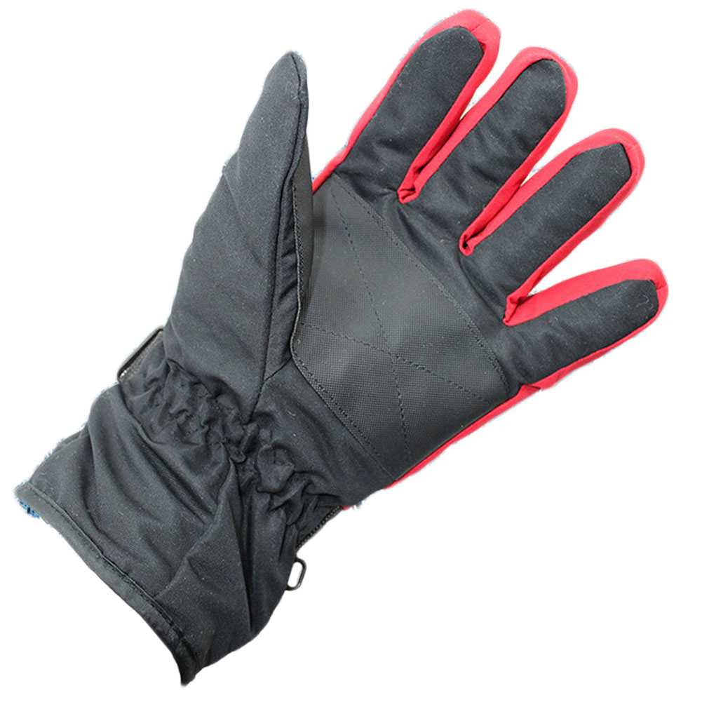 New men ski gloves thermal waterproof for winter sports snowboard navy blue and red cloth warm gloves
