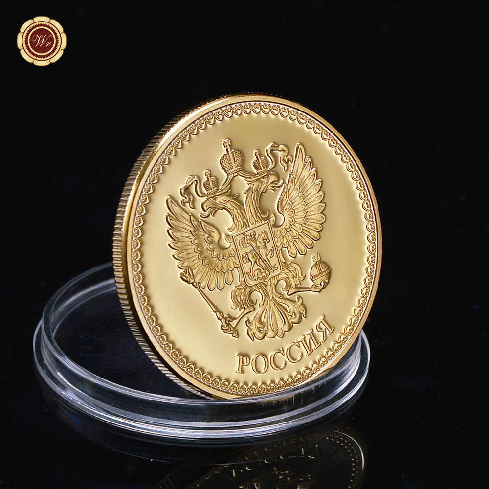 WR 1 PCS Vàng Trồng Đồng Tiền Vladimir Nga thành phố Tiền Xu Kỷ Niệm đồng xu lưu niệm cho bộ sưu tập và quà tặng