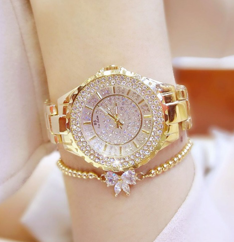 New Fashion Famous Brand Full Diamond Bracelet Quartz Watch Luxury Lady Dress Watch Rhinestone Bling Crystal Bangle Watches 2017 new arrivals famous brand full diamond luxury women watch lady dress watch rhinestone bling crystal bangle watches female