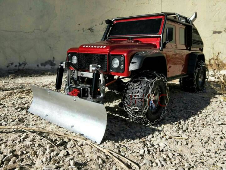 Metal Front Electric Control Bumper Snow Shovel For Axial Crawler Cherokee AX90046 AX90047 SCX10 II Traxxas TRX-4 TRX4 T4 D110 metal front bumper for 1 10 traxxas trx4 d110 rc crawler car part
