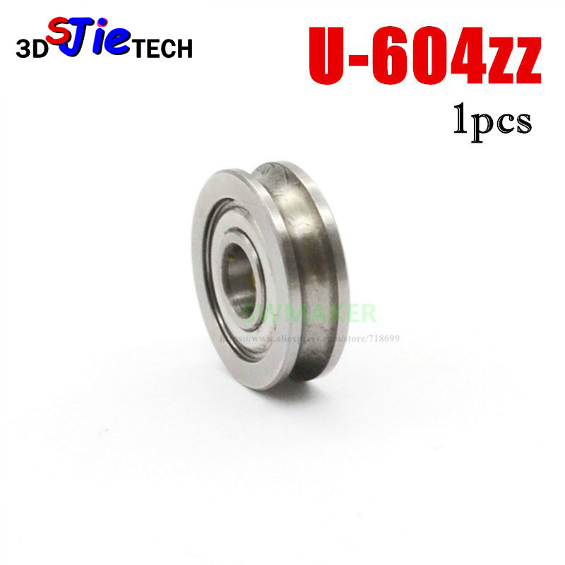 SWMAKER 4*13*4mm 3D Printer U604zz Bearing Extruder Guide Wheel U Groove Guide Pulley Bearing For CR-10 MK8 Extruder
