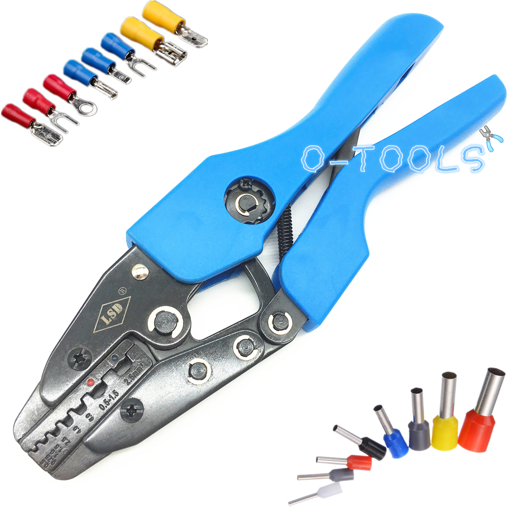 Multi Pliers Crimping Tools For Crimping Wire Ferrule Tube Connector And Insulated Cable Terminals 0.5-2.5mm² AN-06WF2C