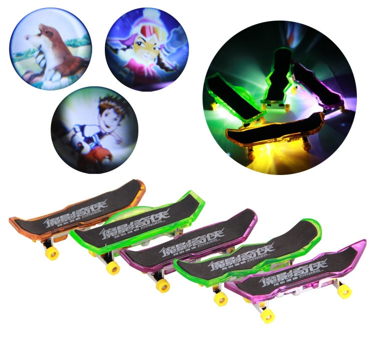95da21e60c Mini Finger Skateboard With LED Light projection Professional Plastic Alloy  Toys Board Skate De Dedos 8pcs lot-in Mini Skateboards   Bikes from Toys ...