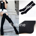 1 Pairs Lady Girls Over The Knee Thigh High Cotton Stockings Leggings Hot Black Thin Shape Women Stockings