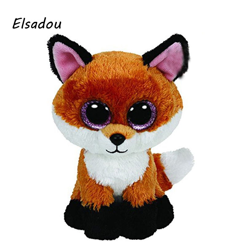Elsadou Ty Beanie Boos Stuffed Plush Animals Foxes font b Toy b font Doll