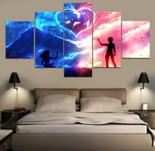 5 Piece Painting Canvas Anime Landscape HD Print Decor Modern Wall Art Home Living Room Artwork