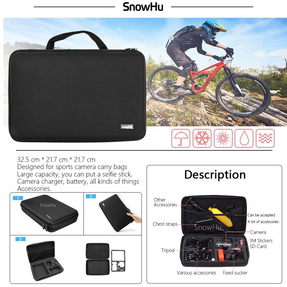 SnowHu para Gopro accesorios para ir pro hero7 6 5 5S kit tres selfie palo para Eken h9 xiaomiyi 4 K caso de EVA GS18 - 2