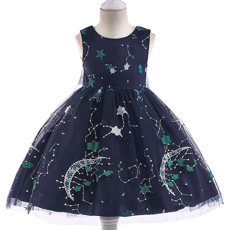 New Stylish Kids   Girl   Princess   Dress   Appliques Beautiful Evening Party   Dress     Flower     Girl     Dress   For Baby   Girl   L5036