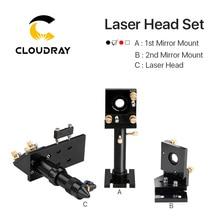 Cloudray CO2 лазерная головка набор/зеркало и Фокус объектив интегративное крепление Houlder для лазерной гравировки резки