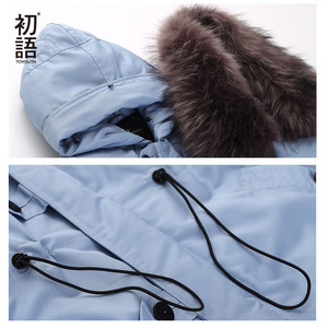 Image 5 - Toyouth Womens Down Jacket Winter Female Jacket Thicking Fur Hooded Oversize Parka Coat Long 90% Outwear White Duck Down Jacket