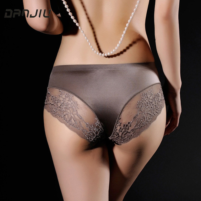 DANJIU Women Lace Sexy Panties Luxury Seamless Solid Underwear Low Waist Woman Briefs Female Slim Breathable Ladies Underpants