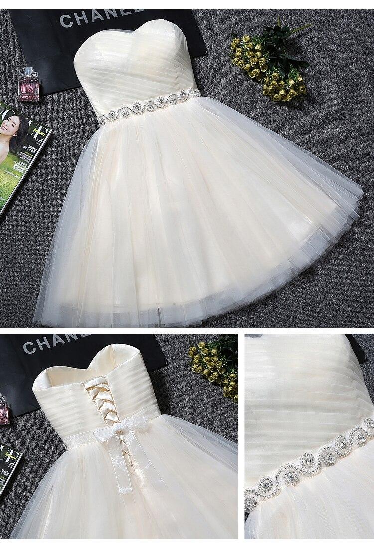 Princess Sweetheart Tulle Short Bridesmaid Dress 1