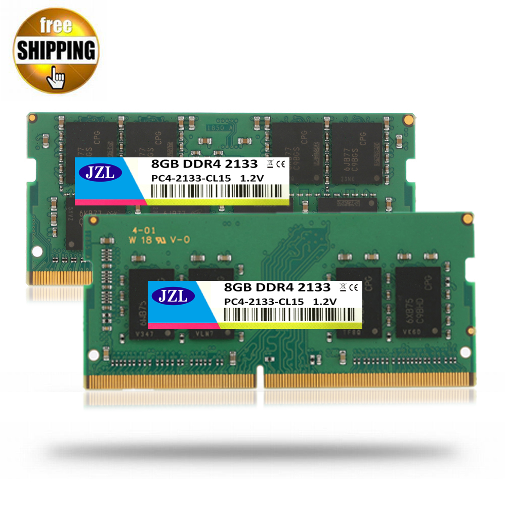 JZL Laptop Sodimm PC4-17000 DDR4 2133MHz 8GB PC4 17000 DDR 4 2133 MHz LC15 1.2V 260-PIN Memory Module Ram for Lap top / Notebook