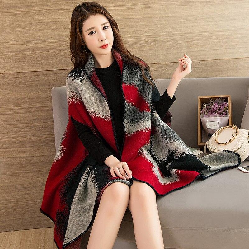Wearable Winter   Scarf   Shawl Women Luxury 2019 Shawls and   Wraps   for Ladies Pashmina Stoles Warm Poncho Feminino Cape Shawl Winter