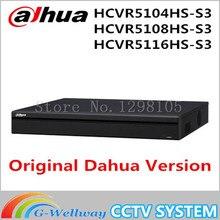 DAHUA HDCVI Analogique IP Vidéo input1080P Tribrid DVR soutien 1HDD HCVR5104HS-S3 HCVR5108HS-S3 HCVR5116HS-S3, livraison gratuite