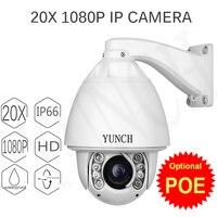 POE CCTV Camera IP 20/30X de Zoom Da Câmera Dome de Alta Velocidade rede 1080 P Câmera PTZ IP De Rastreamento Automático câmera de Segurança de Vigilância IP