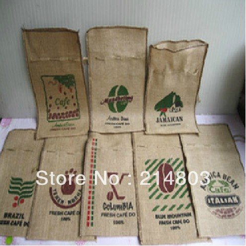 Whole Hemp Bag For Coffee Jute Size W18 50 H31cm