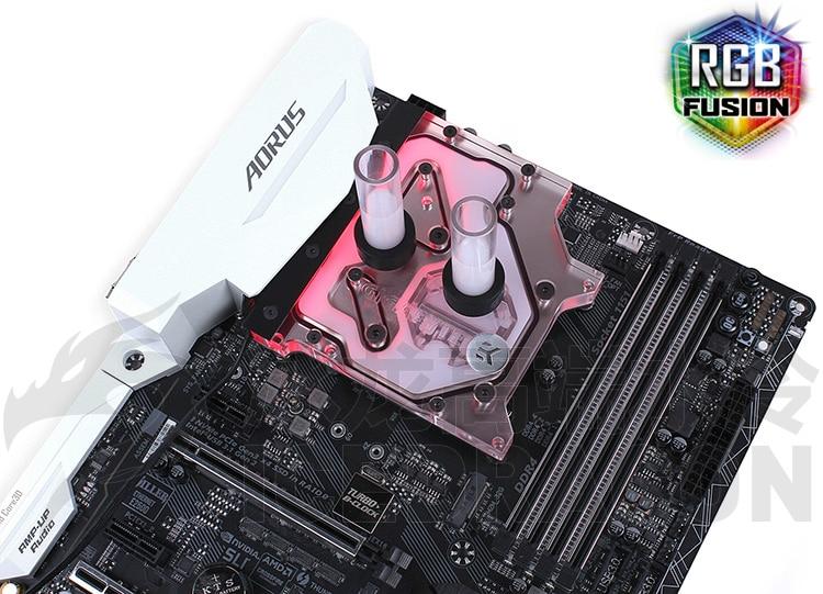 EK-FB GA Z270X Blocco Acqua CPU Dissipatore Gigabyte Z170 Z270X Radiatore Acqua Per La Scheda Madre + CPU