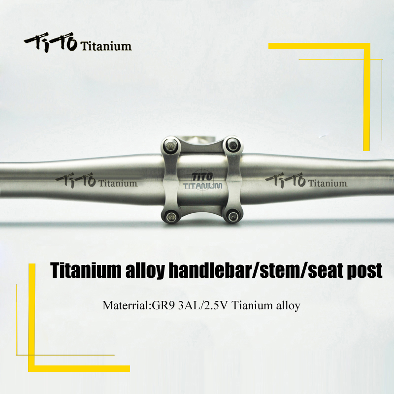 все цены на TiTo MTB / Road bicycle parts titanium seatpost + titanium handlebar + titanium stem bicycle part one set