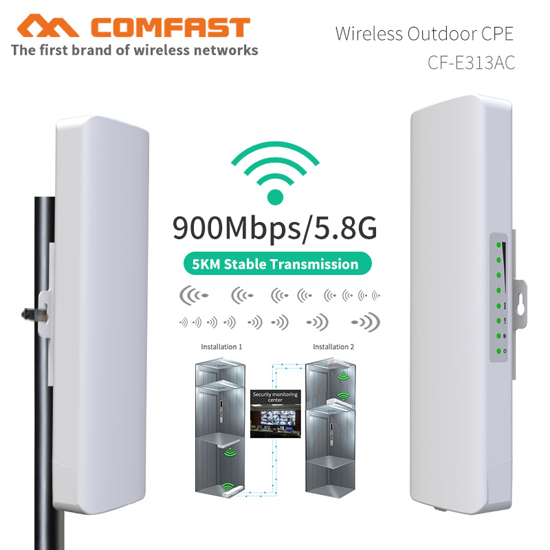 5KM Range 900Mbps 5.8G Outdoor Wireless Bridge Wifi CPE Access Point Antenna WI-FI Router Wifi Repeater Nanostation For IP Cam