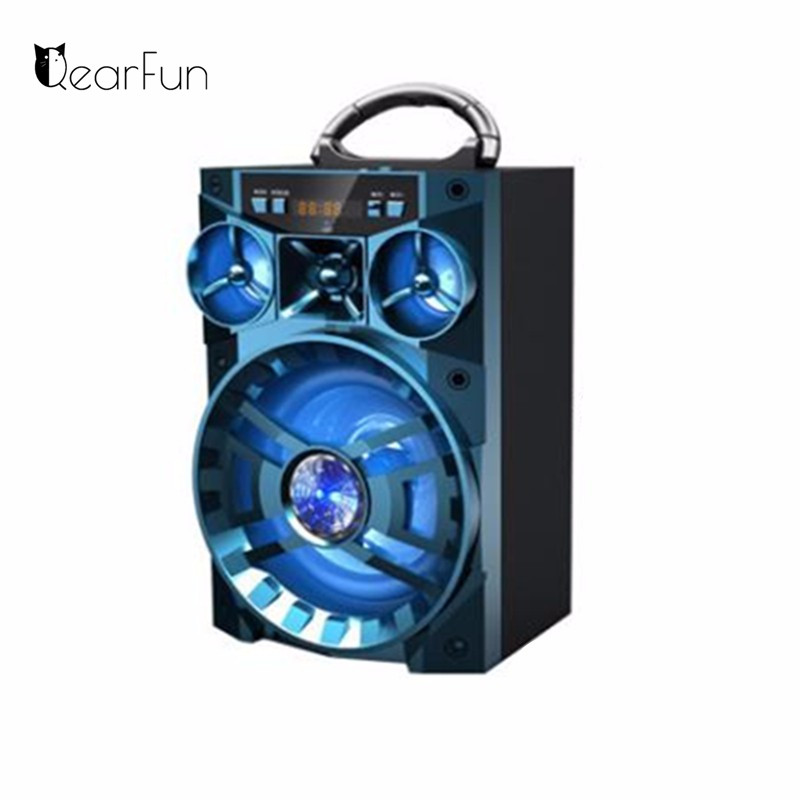High Quality Outdoor Camping KTV Speaker Portable Wireless Bluetooth Sound Box HIFI Music Subwoofer Support SD TF Mp3 Player USB