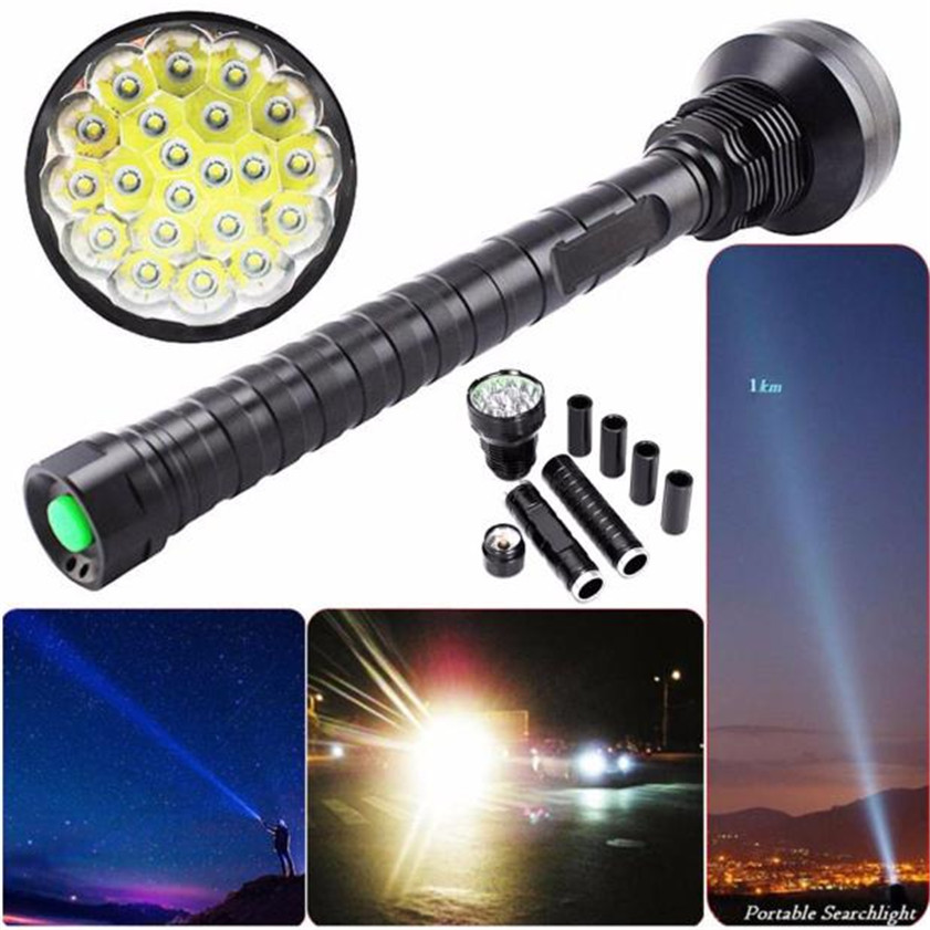High Quality 28000LM CREE XM-L LED 21x T6 Super Flashlight Torch Lamp Light 5Mode 26650 18650 super 3000lm zoomable cree xm l t6 led 18650 flashlight torch super bright light 170118