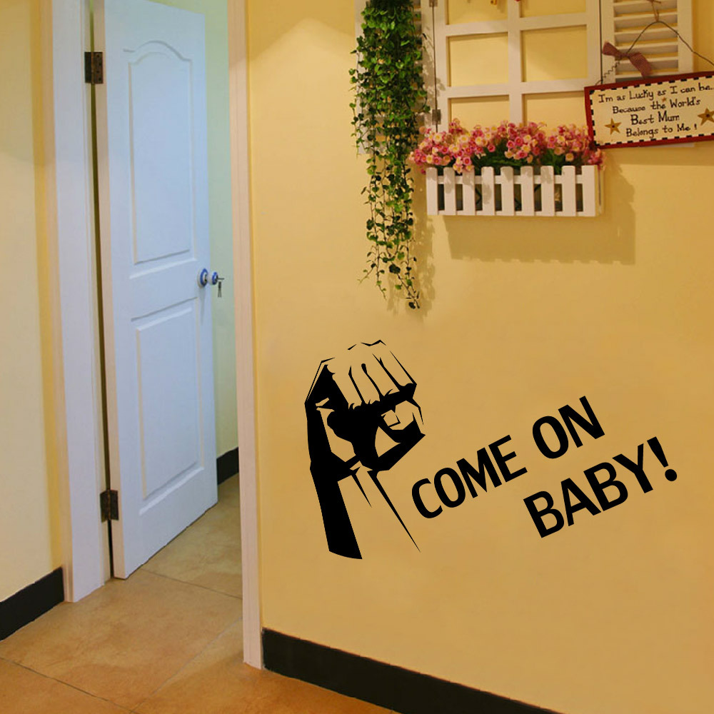 Free Shipping Come on baby wall stickers English encouragement vinyl ...
