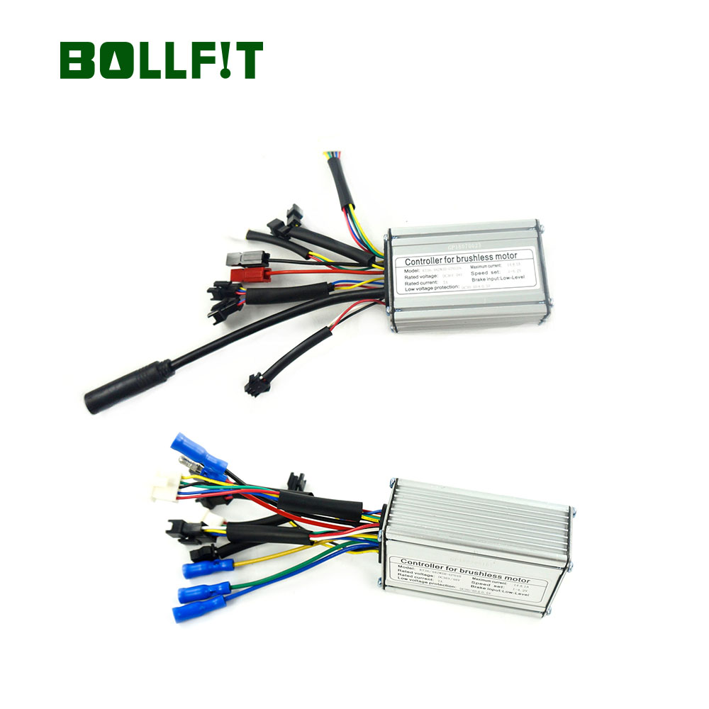 BOLLFIT Controller Electric Bicycle KT Kunteng 36/48V 14A For 250W Motor 6 Mosfets Motor Waterproof Connector Plug