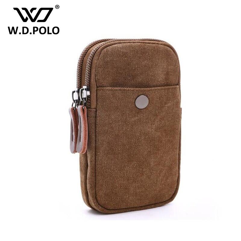 WDPOLO New Classic Men fashion Waist Bags Casual Cell Phone Bags chic Travel Canvas bag For Male Small Military Bag Bolsas C114 aerlis men women canvas retro 6inch phone portable small waist bag