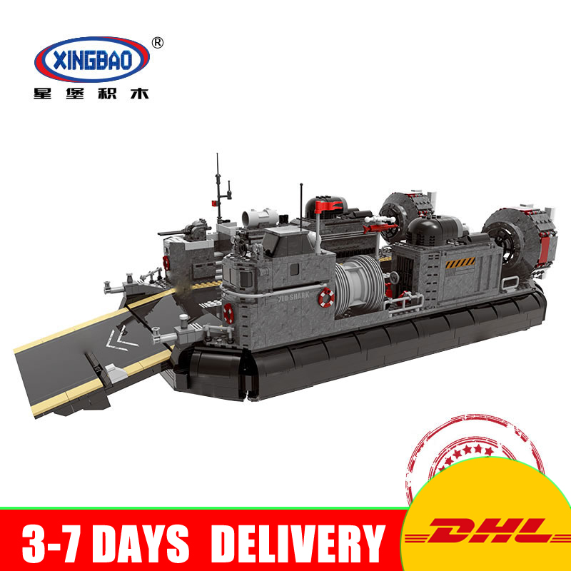 XINGBAO 06019 Genuine The Amphibious Transport Ship Set Military Series Building Bricks Blocks Toys As Christmas Gifts black pearl building blocks kaizi ky87010 pirates of the caribbean ship self locking bricks assembling toys 1184pcs set gift