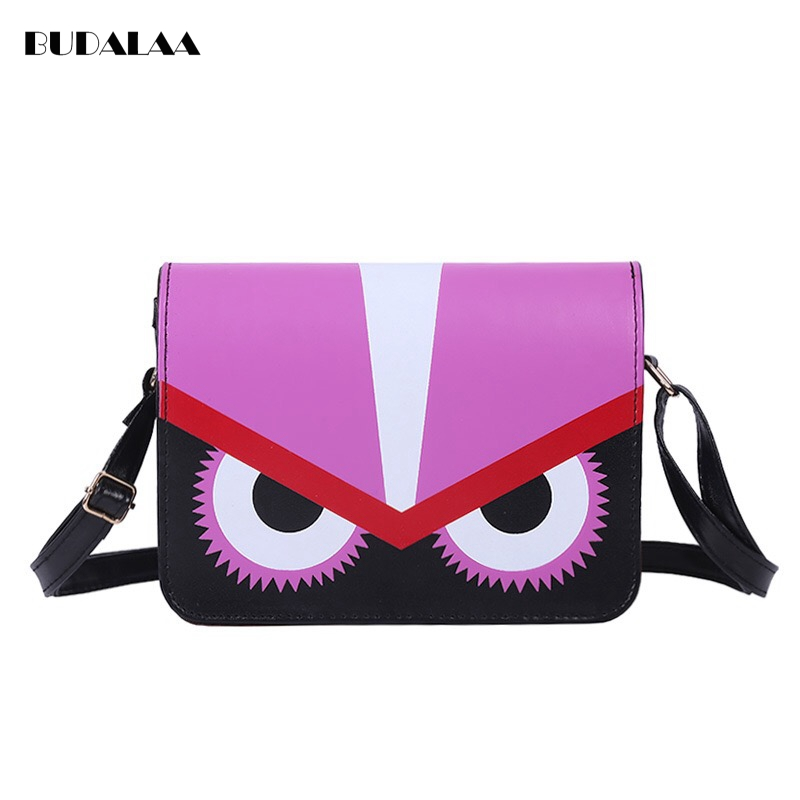 Splicing Party Eyes Pack Character Bump Color Cool Gorgeous Beauty Choose High Quality Material Rose Red Budalaa 2017 New Bags