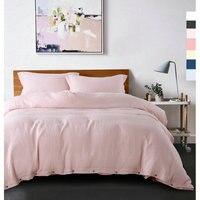 1 Set 3 Piece Waterwash 100 Pure Line Bedding Sets Linen Duvet Cover Sets Free Shipping