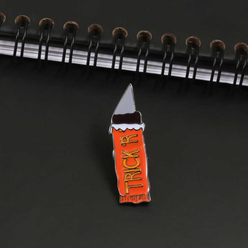 Shshd TRICK'R лезвие брошь милый мультяшный нож ручка Эмаль Булавка для женщин и мужчин куртки нагрудные булавки панк для сумки, бейджи ювелирные изделия