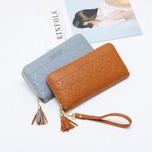 Купить с кэшбэком New Fashion Women Wallets Long Design Orginazer Purses Large Capacity PU Leather Wallet Photo Holder Card Holder Coin Pocket