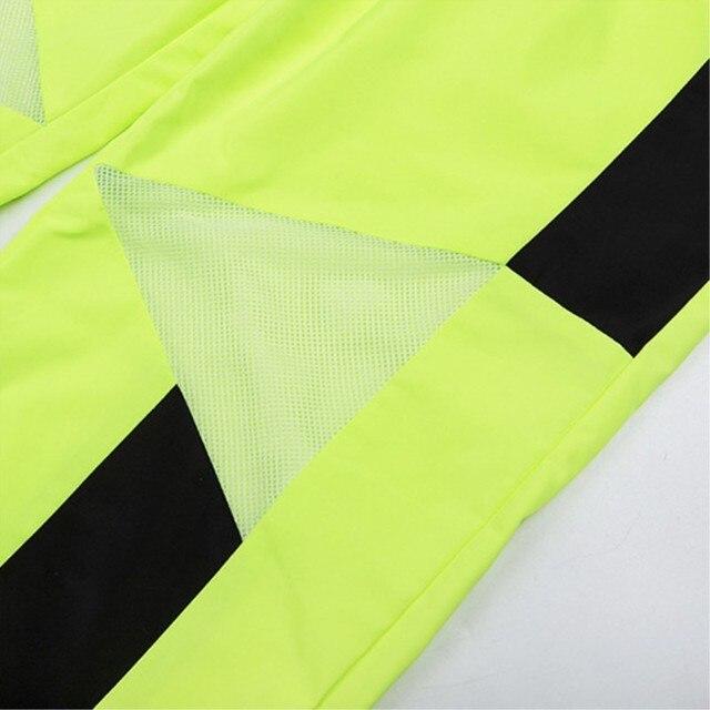 Neon zielony wysoka talia siatka przezroczyste spodnie