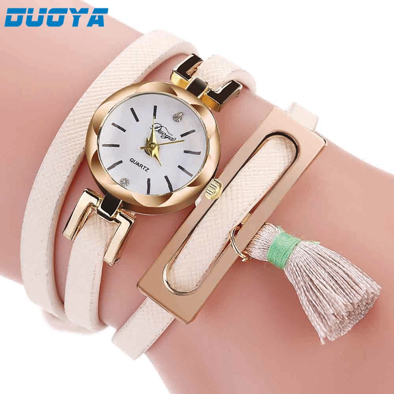 Excellent Quality Duoya 2017 Relogio Masculino Leather Strap Bracelet Watch Women Watches Ladies Quartz Wristwatch Relogio #A2