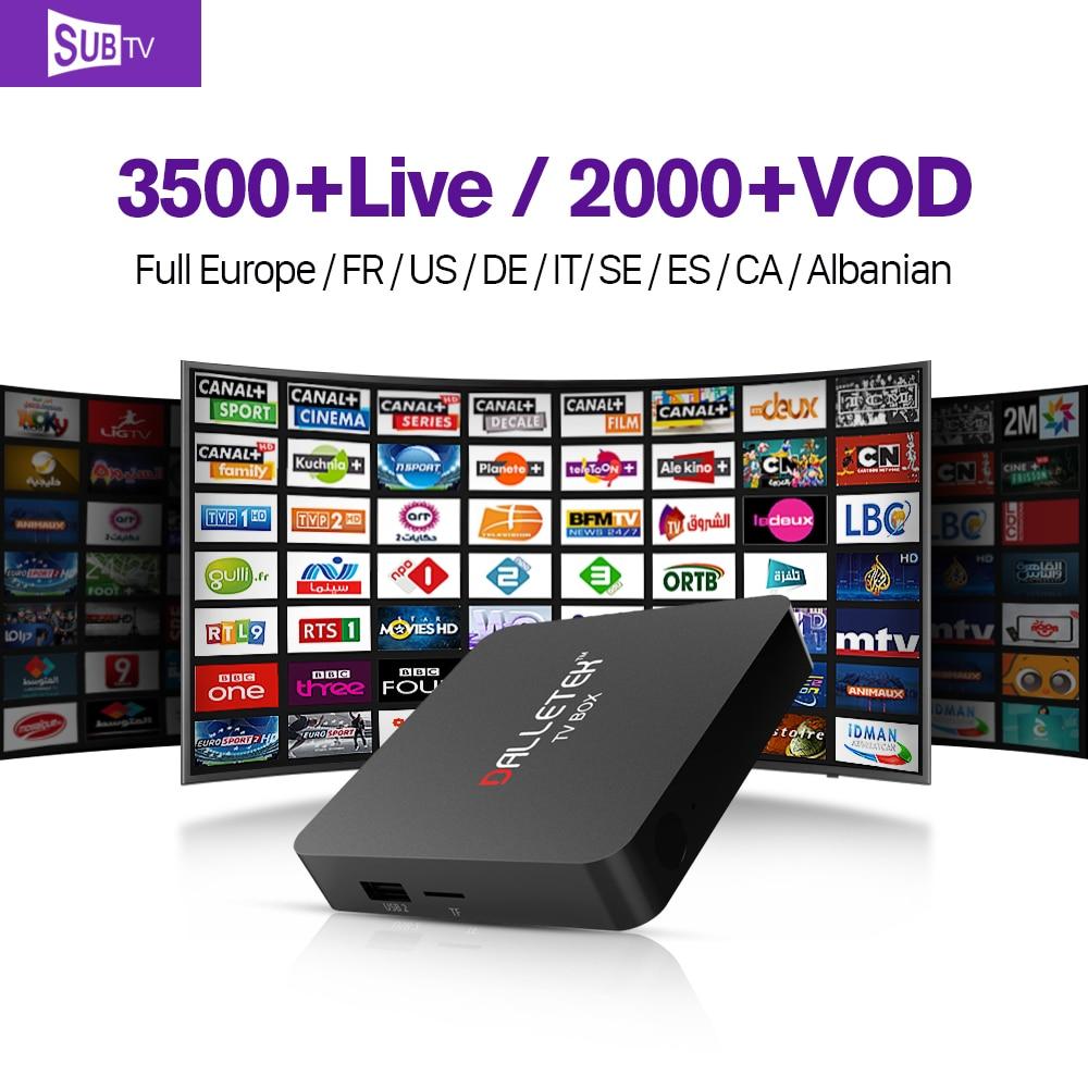 S1 Inteligente IPTV Media Player S905X Androide Cuadro 6.0 TV con HD IPTV Árabe