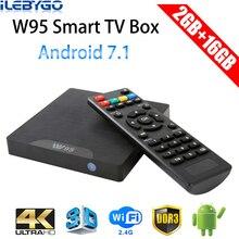 Ilebygo W95 Android 7,1 ТВ приставка Amlogic S905W четырехъядерный 2 Гб 16B телеприставка 2,4G Wifi HD2.0 3D H.265 4K медиаплеер PK X96 mini