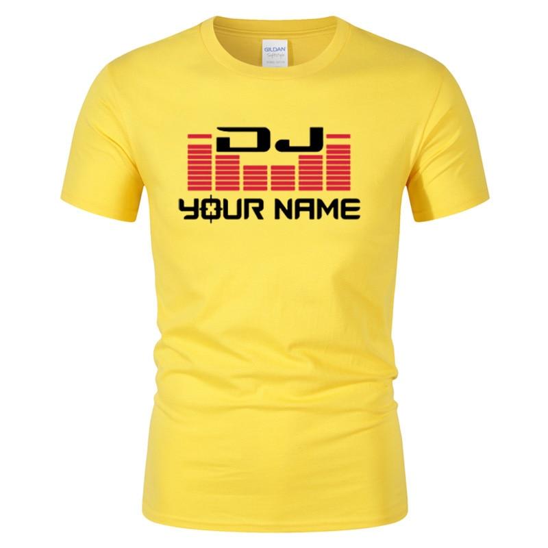 DJ Your Name Hombres camiseta de impresión personalizada Camiseta - Ropa de hombre - foto 4